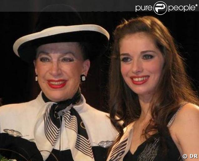 Sarah Barzyk, Miss Paris 2008, avec Geneviève de Fontenay