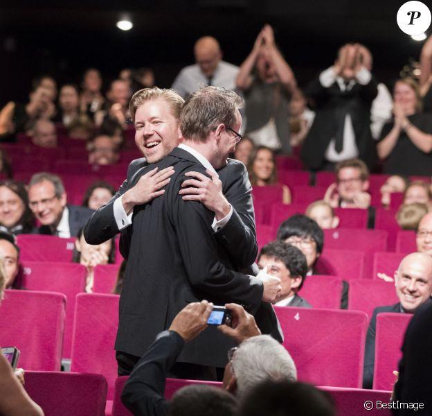 """Juho Kuosmanen ( Prix """"Un Certain Regard"""" pour le film """"Hymyleva Mies"""" (The Happiest Day in the Life of Olli Mäki) - Remise des prix """"Un Certain Regard"""" lors du 69ème Festival International du Film de Cannes, le 21 mai 2016."""