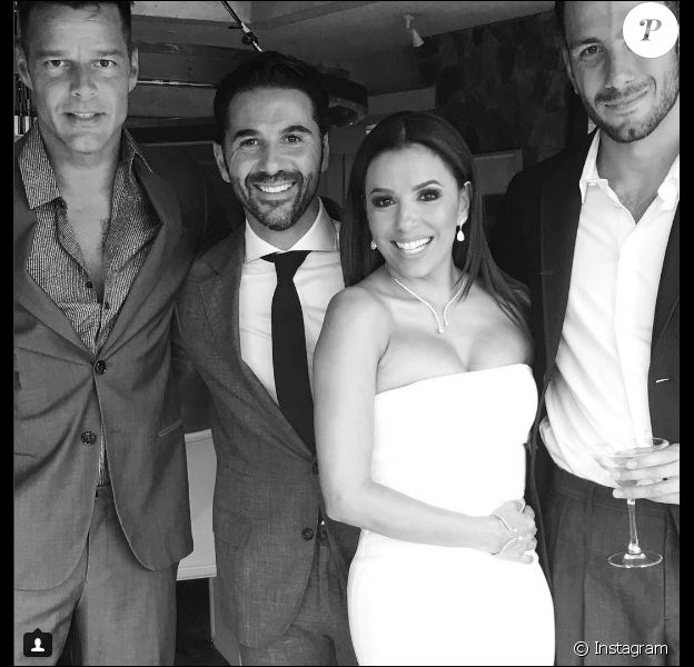 Ricky Martin au mariage d'Eva Longoria et Jose Antonio Baston le 21 mai 2016 à Valle de Bravo au Mexique.