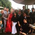 Invités au mariage d'Eva Longoria et Jose Antonio Baston le 21 mai 2016, photo du compte Instagram de l'actrice Melanie Griffith