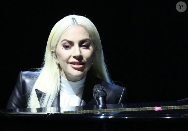 Lady Gaga sur le campus de l'Université de Las Vegas, pour l'événement It's on us, le 7 avril 2016.