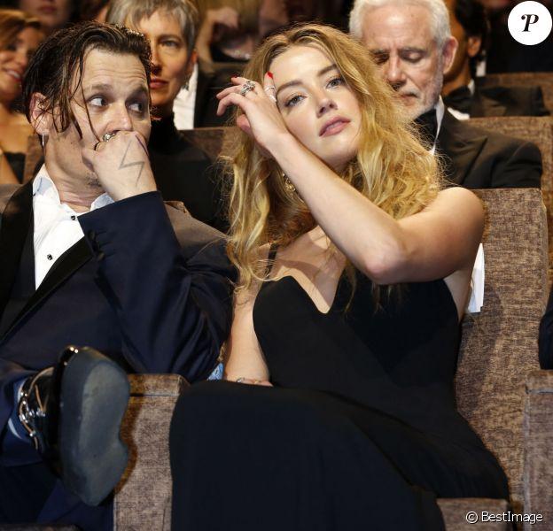 Johnny Depp et sa femme Amber Heard - Première du film Black Mass (Strictly Criminal) lors du 72ème festival du film de Venise (la Mostra), le 4 septembre 2015.