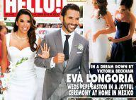 """Eva Longoria : Sa robe de mariée signée Victoria Beckham, faite """"avec amour"""""""