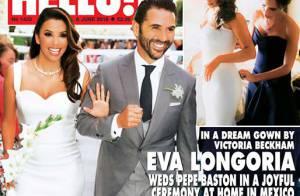 Eva Longoria : Sa robe de mariée signée Victoria Beckham, faite