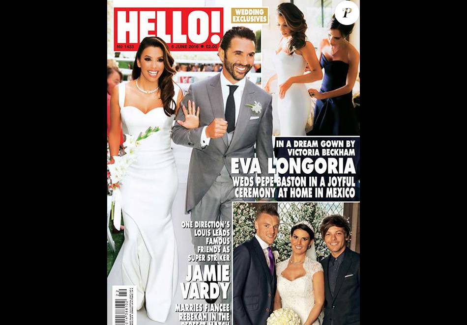Eva Longoria en couverture de Hello ! Juin 2016