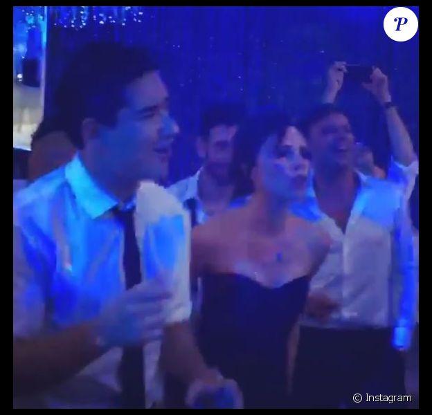 Mario Lopez a dévoilé une vidéo de la soirée de mariage d'Eva Longoria, avec Victoria Beckham. Instagram mai 2016