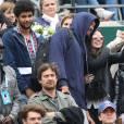 Joakim Noah et son grand-père Zacharie Noah à la finale dames aux internationaux de France de Roland-Garros à Paris le 3 juin 2016. © Moreau - Jacovides / Bestimage