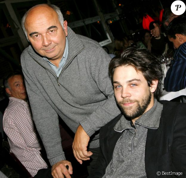 Exclu - Gérard et Arthur Jugnot au Café de la Jatte le 6 novembre 2006
