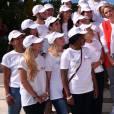 Exclusif - La princesse Charlene de Monaco et sa Fondation organisaient le 6 juin 2016 sur la plage du Larvotto en principauté une nouvelle journée d'action du programme Water Safety pour la prévention de la noyade, avec l'aide de grands champions comme Alain Bernard et Pierre Frolla. © Bruno Bebert / Pool restreint Monaco / Bestimage - Crystal - Visual