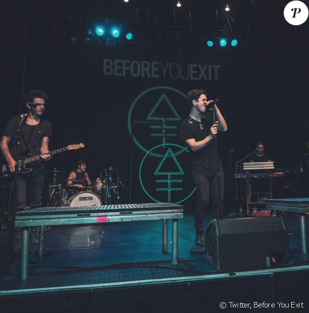 Le groupe Before You Exit sur scène durant les balances au Plaza Live à Orlando le 10 juin 2016. Ce soir-là, la jeune chanteuse Christina Grimmie a été abattue par un tireur encore non identifiée par la police.