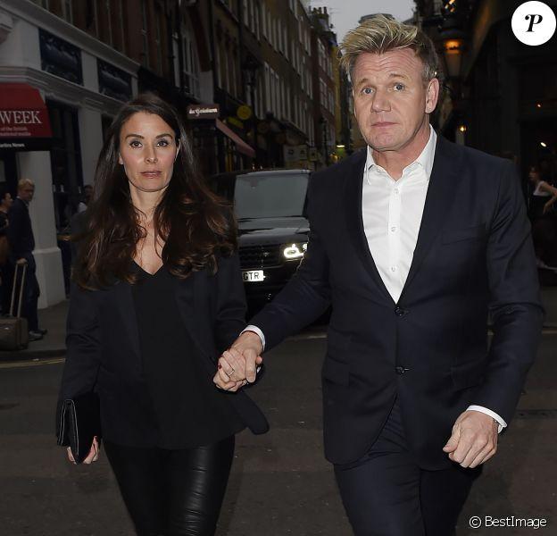 Gordon Ramsay et sa femme Tana Ramsay à Londres, le 25 mai 2016
