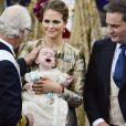 Baptême du prince Nicolas de Suède, deuxième enfant de la princesse Madeleine et de Christopher O'Neill, à Stockholm le 11 octobre 2015