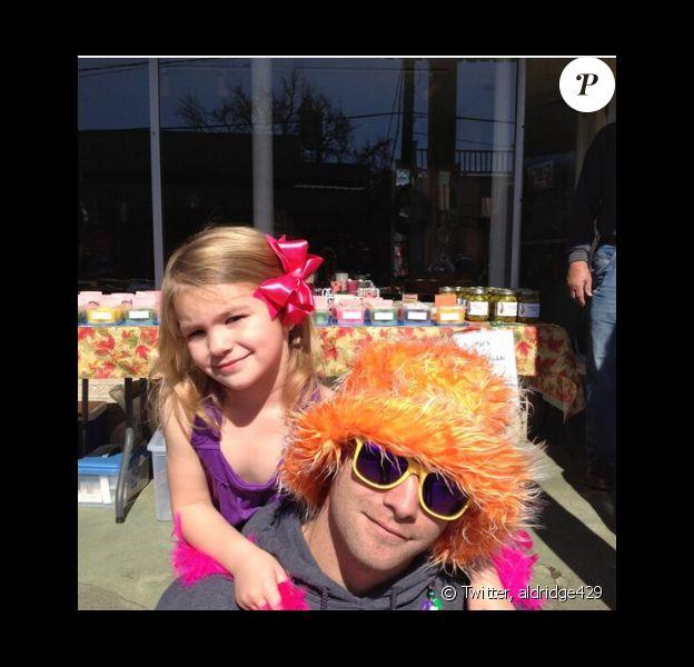 Casey Aldridge et sa fille Maddie. Photo publiée sur Twitter, le 4 février 2013