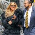 Mariah Carey participe à l'émission 'Access Hollywood' à New York, le 16 mai 2016