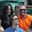 Amel Bent et Patrick Antonelli - Internationaux de France de tennis de Roland Garros à Paris, le 5 juin 2014.