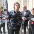 Nick Robinsonarrive au Palais-Royal pour assister au défilé Louis Vuitton. Paris, le 23 juin 2017. © CVS - Veeren / Bestimage