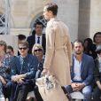 Michael Burke et sa femme Brigitte, David Beckham, Kate Moss et Nikolai Von Bismarckassistent au défilé de mode Louis Vuitton au Palais-Royal. Paris, le 23 juin 2016. © Olivier Borde / Bestimage