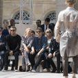 Michael Burke et sa femme Brigitte, David Beckham, Kate Moss et Nikolai Von Bismarck, Nick Robinson et Ben Robsonassistent au défilé de mode Louis Vuitton au Palais-Royal. Paris, le 23 juin 2016. © Olivier Borde / Bestimage