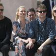 David Beckham, Kate Moss et Nikolai Von Bismarckassistent au défilé de mode Louis Vuitton au Palais-Royal. Paris, le 23 juin 2016. © Olivier Borde / Bestimage