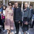 Farida Khelfa, David Beckham et Kate Mossassistent au défilé de mode Louis Vuitton au Palais-Royal. Paris, le 23 juin 2016. © Olivier Borde / Bestimage