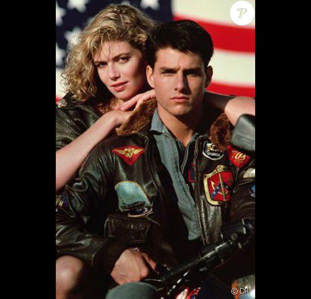 "Kelly McGillis avec Tom Cruise dans ""Top Gun"""