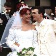 Mariage de Richrd Virenque et Stéphanie en 1997.