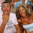 Richard Virenque et Stéphanie au Nikki Beach à Saint-Tropez, le 6 août 2005.