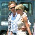 Taylor Swift et son compagnon Tom Hiddleston prennent un hélicoptère à Rome le 28 juin 2016.