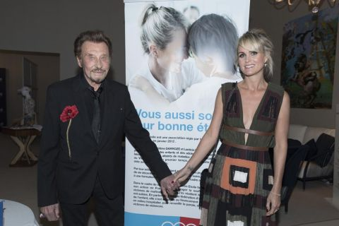 3e Longines Paris Eiffel Jumping : Johnny Hallyday et Laeticia, chics complices