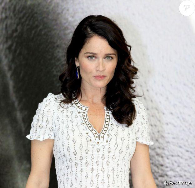 La jolie Robin Tunney, de la série Mentalist, en photocall lors du 53e festival de Monte-Carlo au Forum Grimaldi à Monaco, le 12 juin 2013