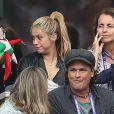 Shakira (compagne Gerard Piqué), son fils Milan et Montserrat Bernabeu (mère de Gerard Piqué) lors des 8ème de finale de l'UEFA Euro 2016 Italie-Espagne au Stade de France à Saint-Denis, France, le 27 juin 2016. © Cyril Moreau/Bestimage