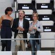 Nathalie Iannetta, Jean-Pierre Darroussin et sa femme Anna Novion - People assistent à la demi-finale de l'Euro 2016 Allemagne-France au stade Vélodrome à Marseille, France, le 7 juillet 2016. © Cyril Moreau/Bestimage