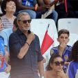 Sylvie Tellier et Jean-Claude Darmon - People assistent à la demi-finale de l'Euro 2016 Allemagne-France au stade Vélodrome à Marseille, France, le 7 juillet 2016. © Cyril Moreau/Bestimage