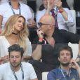 Pascal Obispo et sa femme Julie Hantson - People assistent à la demi-finale de l'Euro 2016 Allemagne-France au stade Vélodrome à Marseille, France, le 7 juillet 2016. © Cyril Moreau/Bestimage