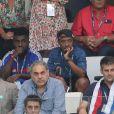 Soprano, de son vrai nom Saïd M'Roumbaba - People assistent à la demi-finale de l'Euro 2016 Allemagne-France au stade Vélodrome à Marseille, France, le 7 juillet 2016. © Cyril Moreau/Bestimage