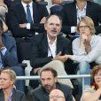 Jean-Pierre Darroussin et sa femme Anna Novion - People assistent à la demi-finale de l'Euro 2016 Allemagne-France au stade Vélodrome à Marseille, France, le 7 juillet 2016. © Cyril Moreau/Bestimage