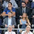 Florent Manaudou, Anne Gravoin - People assistent à la demi-finale de l'Euro 2016 Allemagne-France au stade Vélodrome à Marseille, France, le 7 juillet 2016. © Cyril Moreau/Bestimage