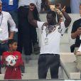 Omar Sy - People assistent à la demi-finale de l'Euro 2016 Allemagne-France au stade Vélodrome à Marseille, France, le 7 juillet 2016. © Cyril Moreau/Bestimage