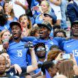 Florentin Pogba et Mathias Pogba (Frère de Paul Pogba) lors du match de la finale de l'Euro 2016 Portugal-France au Stade de France à Saint-Denis, France, le 10 juin 2016. © Cyril Moreau/Bestimage