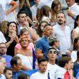 Malika Ménard, Alain et Isabelle (Parents d'Antoine Griezmann) et Erika Choperena (Compagne de Antoine Griezmann) lors du match de la finale de l'Euro 2016 Portugal-France au Stade de France à Saint-Denis, France, le 10 juin 2016. © Cyril Moreau/Bestimage