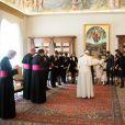 Le prince Felix et la princesse Claire de Luxembourg avaient amené leur fille la princesse Amalia lors de la visite de la famille grand-ducale au pape François, le 21 mars 2016 au Vatican.