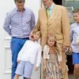 Le prince Frederik, le prince Vincent, la princesse Josephine, le prince Henrik, le prince Christian - La famille royale de Danemark lors d'un photocall au palais de Grasten, le 15 juillet 2016.15/07/2016 - Grasten