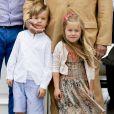 Le prince Vincent, la princesse Josephine - La famille royale de Danemark lors d'un photocall au palais de Grasten, le 15 juillet 2016.15/07/2016 - Grasten
