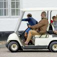 Le prince Christian, le prince Henrik, le prince Vincent, Gräfin Ingrid - La famille royale de Danemark lors d'un photocall au palais de Grasten, le 15 juillet 2016.15/07/2016 - Grasten