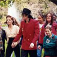 Michael Jackson et Lisa Marie Presley à la conférence World Summit of Children, le 18 avril 1995.