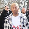 """Pharrell Williams - Arrivées au défilé de mode prêt-à-porter """"Chanel"""", collection automne-hiver 2016/2017, à Paris. Le 8 mars 2016"""