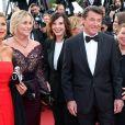 """Laura Ténoudji, Denise Fabre, Christian Estrosi et Nicole Rubi - Montée des marches du film """"Café Society"""" pour l'ouverture du 69ème Festival International du Film de Cannes. Le 11 mai 2016."""