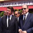 L'ex-maire de Nice Christian Estrosi, le prince Albert II de Monaco - Hommage national aux victimes de l'attentat de la Promenade des Anglais à Nice qui a fait 84 morts. Le 18 juillet 2016