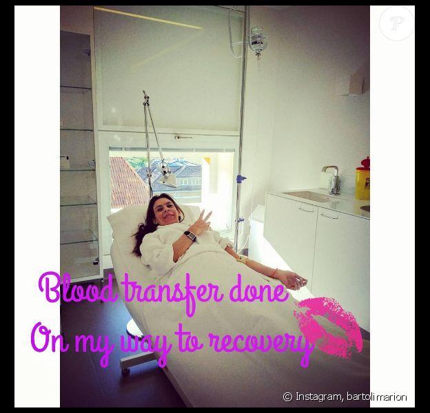 Marion Bartoli fait des examens médicaux sous la houlette du Dr. Henri Chenot au Palace Merano, en Italie. Photo publiée sur Instagram le 16 juillet 2016