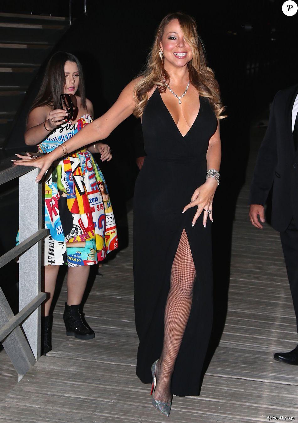Mariah Carey - Arrivées aux Marines de Cogolin pour la soirée de la Fondation Leonardo DiCaprio à Saint-Tropez, France, le 20 juillet 2016. © Agence/Bestimage
